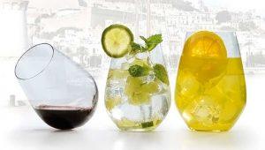 Vasos de cristal para combinados