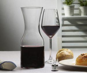 Vasos de vino de cristal fino