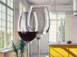 Vasos de vino de cristal